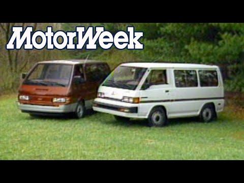 1987 Nissan Van GXE & Mitsubishi Wagon LS   Retro Review