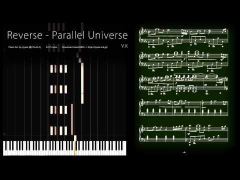 ピアノ楽譜で Reverse -  Parallel Universe / V.K (Deemo) [Piano Solo Version]