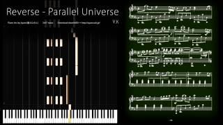 ピアノ楽譜で Reverse -  Parallel Universe / V.K (Deemo) [Piano Solo Version]