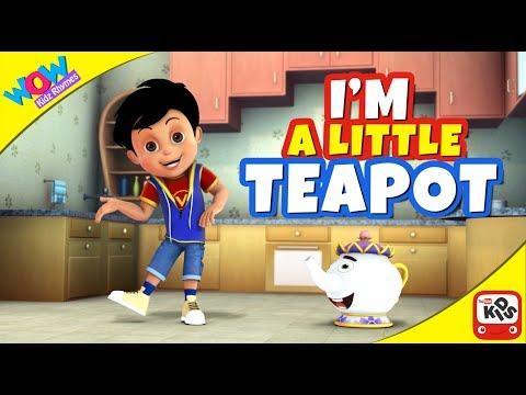 I'm a little teapot with Vir The Robot Boy...