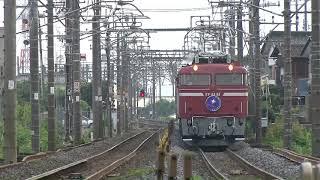 2017.8.12寝台列車カシオペア号(栗橋~古河)【少しだけ茨城県】