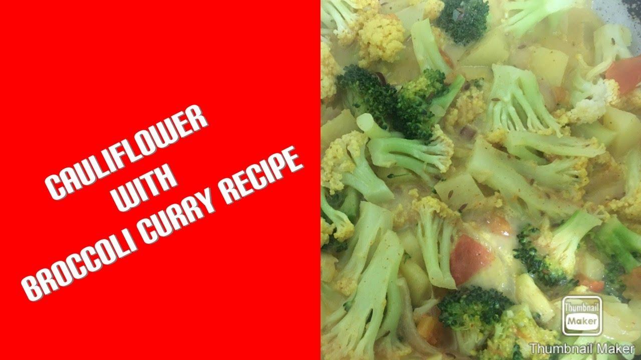 Nepali Cauliflower With Broccoli Curry Easy Recipe Youtube