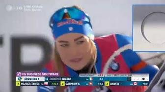Biathlon WM 2020 in Antholz - Sprint der Damen - Komplettes Rennen - Tag 2