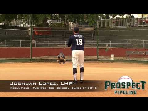 Joshuan Lopez Prospect Video, LHP, Adela Rolon Fuentes High School Class of 2016
