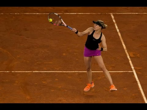 Eugenie Bouchard edges Maria Sharapova in Madrid epic