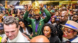 Springbok Team Arrival | 2019 Rugby World Cup Champions