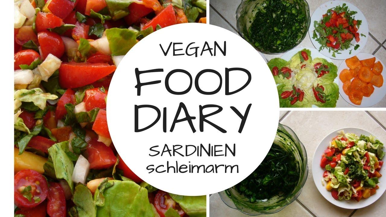 FOOD DIARY 9 Tage auf Sardinien: rohvegan, schleimarm, fettarm und salzfrei