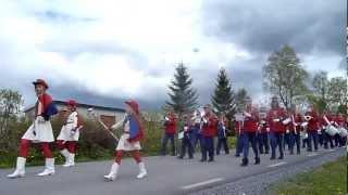 Halsen Skolekorps I Aspås I Sverige På Sveriges Nasjonaldag 06.juni.2012