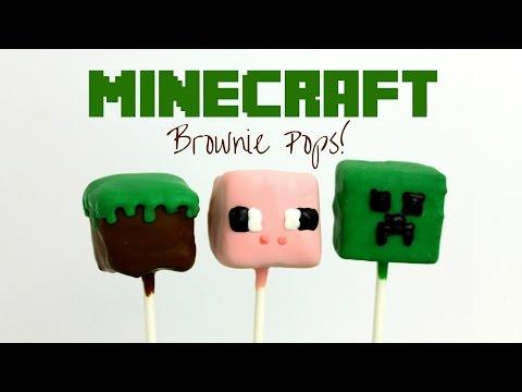 Minecraft Brownie Pops