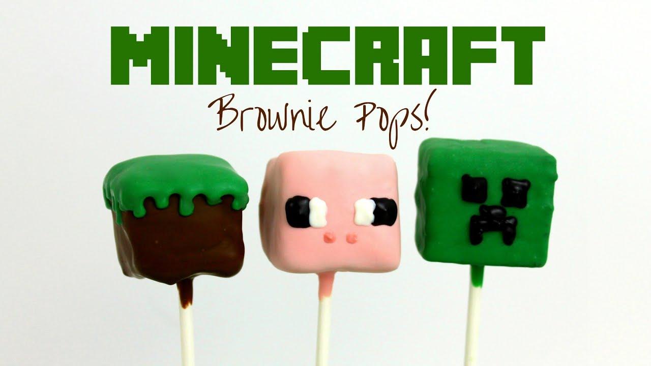 Minecraft Brownie Pops Youtube