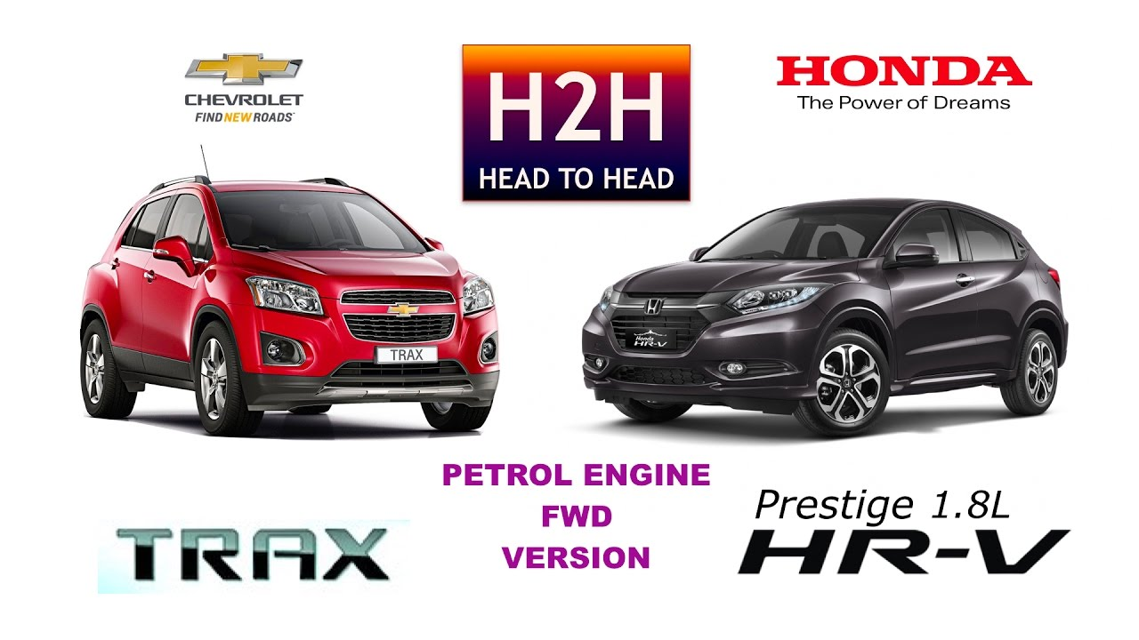 h2h #84 honda hrv vs chevrolet trax - youtube