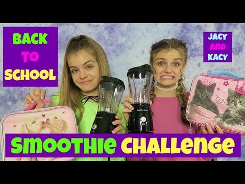 Lunch Box Smoothie Challenge ~ Back to School 2017 ~ Jacy and Kacy