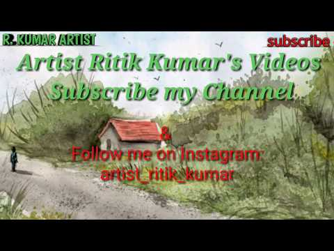 How to make Basic Landscape Composition || Created for Exams ||  Artist Ritik Kumar