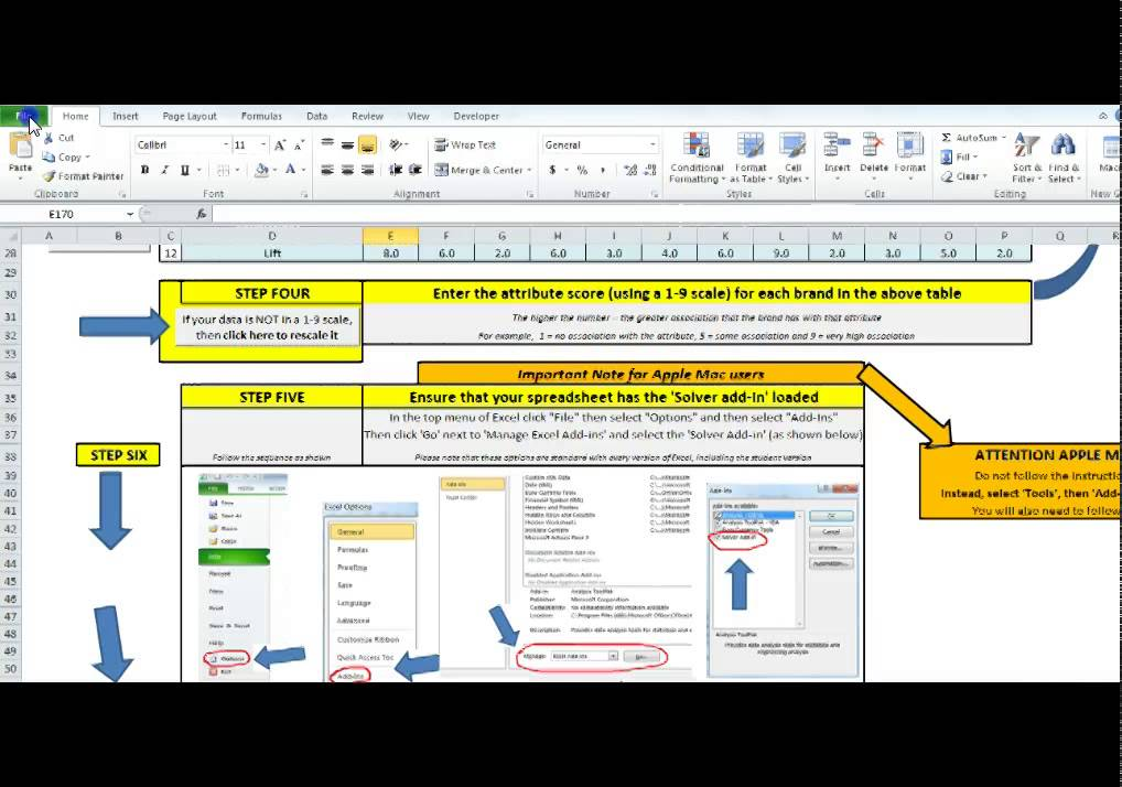How to Use the MDS Perceptual Map Template - YouTube