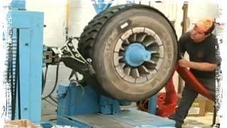 Как восстанавливают лысые покрышки колес   )