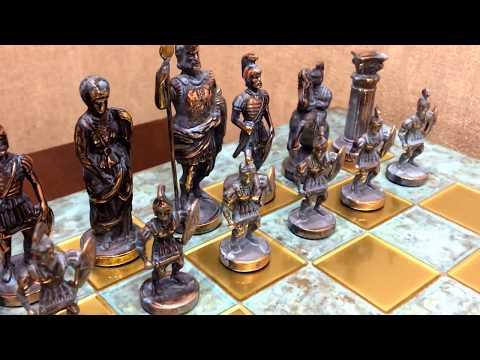 """Шахматный набор """"Греко-Римский период"""" патиновая доска, Manopoulos Chess Set S11B"""
