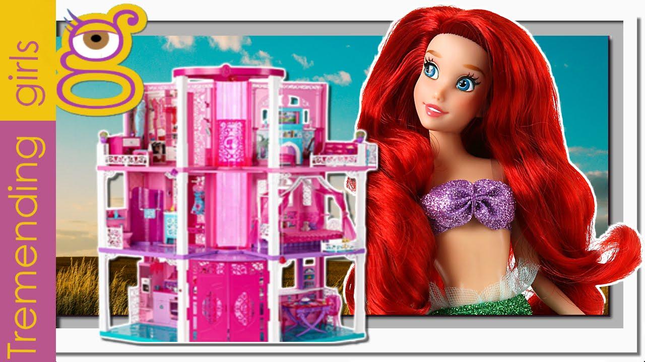 Casa tres pisos barbie dreamhouse decorada por princesas disney juguetes barbie en espa ol - La casa de barbie de juguete ...