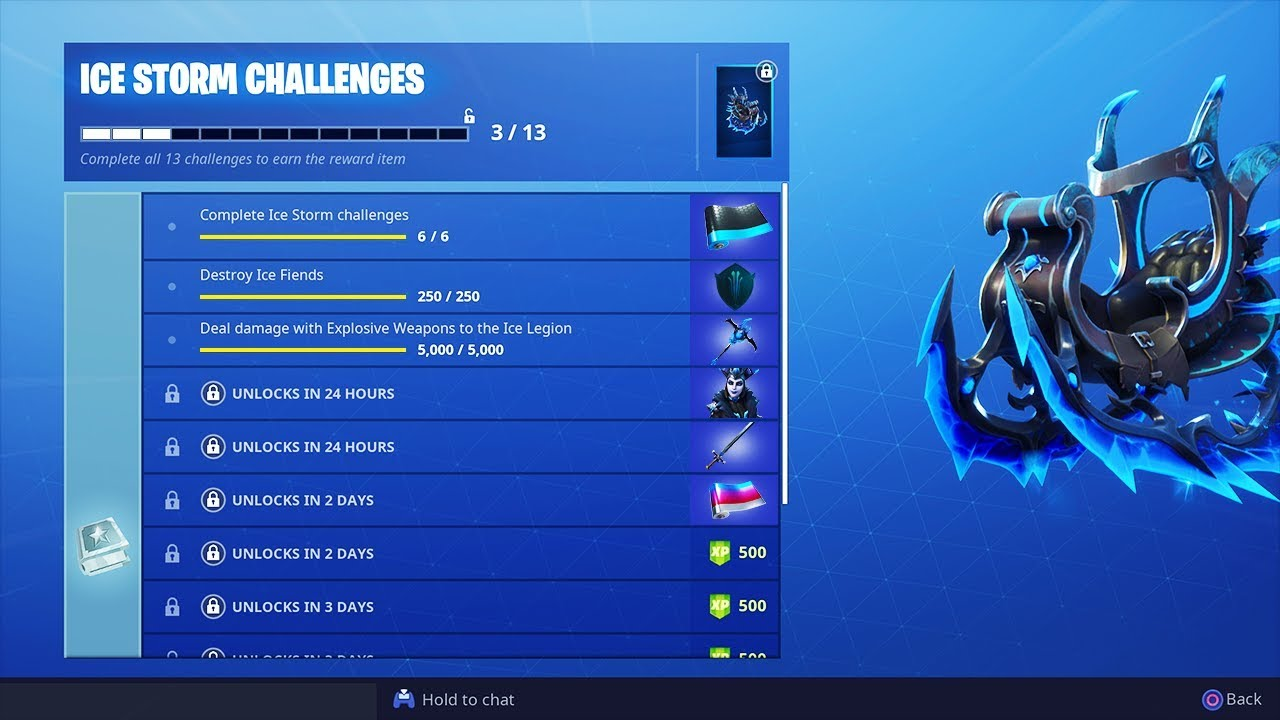 The New Ice Storm Rewards In Fortnite Youtube