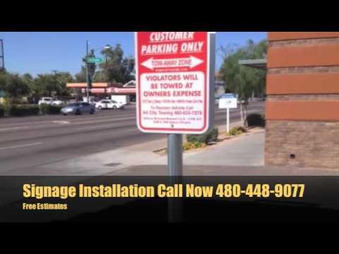 Install Parking Lot Signage Phoenix