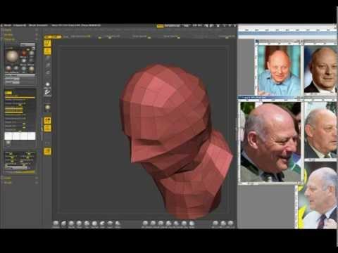Digital modeling of a bust