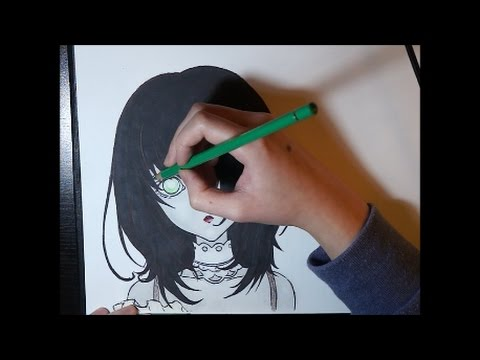 Misaki Mei Doll - Another (Speed Drawing)