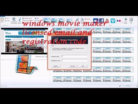 windows movie maker licensed email and registration code