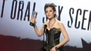 Sasha Grey at AVN Awards 2010 Best Oral Scene