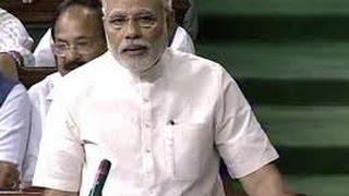 pm narendra modi leaves lok sabha amid uproar