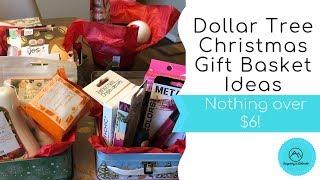 Dollar Tree Christmas Gift Basket Ideas - Nothing over $6!