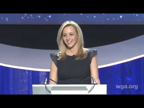 Host Lisa Kudrow opens the 2015 Writers Guild Awards