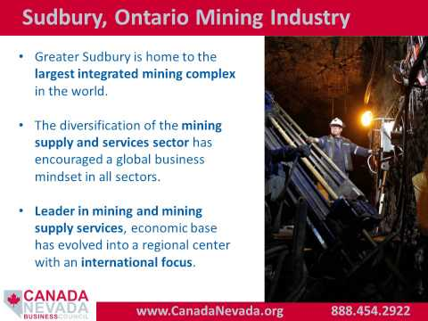 Canada Nevada Business Council Presentation to Nevada Mining Association