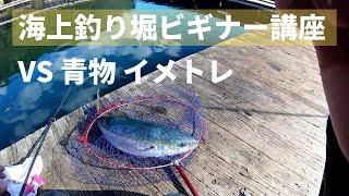 海上釣り堀の花形「青物」を釣る予行演習。今回は釣り堀のビギナー向けに、大型青物がかかった時のやり取りを動画にしてみました。強烈な引...