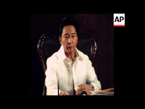 SYND 18 1 77 EXCLUSIVE INTERVIEW WITH PRESIDENT MARCOS OF PHILIPPINES IN MANILA