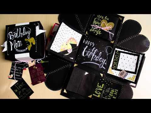 Amazing Birthday Exploding Box Idea for boyfriend | Easy Birthday Exploding Box | Easy Handmade Card