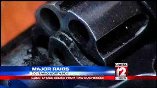 Guns and drugs seized from local businesses in SWAT raid