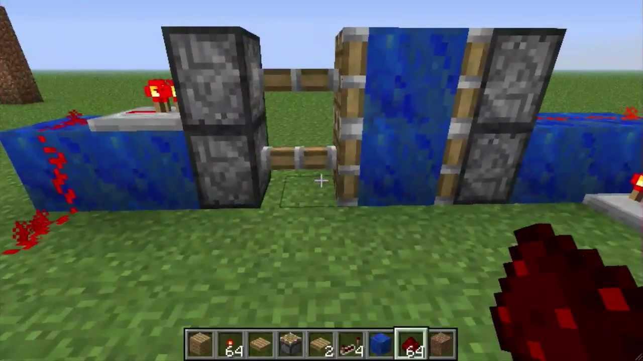Minecraft: Non-Sticky Piston Door & Minecraft: Non-Sticky Piston Door - YouTube Pezcame.Com