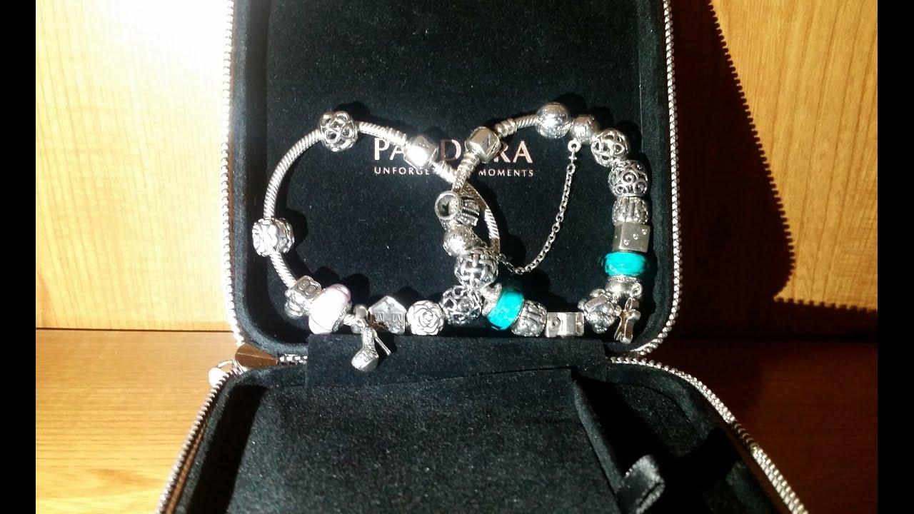 a9cdf59383b6 Pulseras Pandora original charms,clips,cadena de seguridad.CHARM MURANO  ROSA Y FACETADO TURQUESA