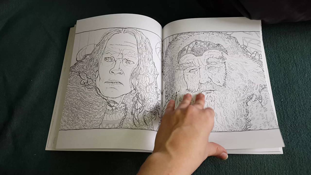 the lord of the ring movie trilogy coloring book youtube - Lord Of The Rings Coloring Book