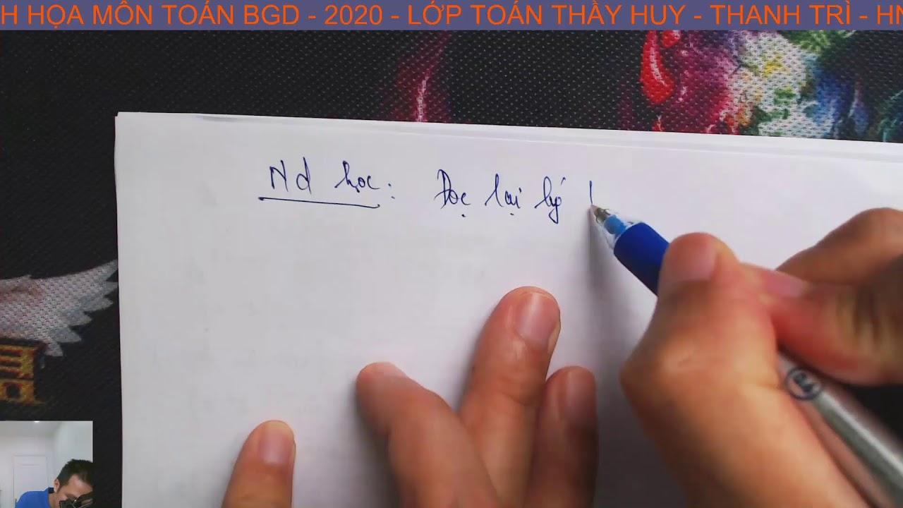 PHÂN TÍCH ĐỀ MINH HỌA MÔN TOÁN 2020 (BGD) – LỚP TOÁN THẦY HUY