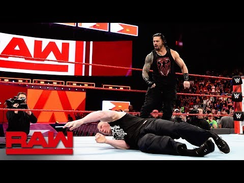Roman Reigns unleashes on Brock Lesnar before WrestleMania: Raw, April 2, 2018