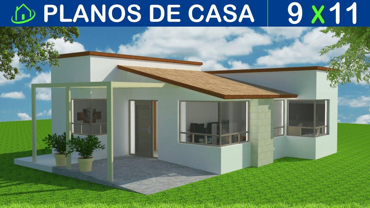 dise os y planos de casa 1 piso minimalista proyecto c1pm