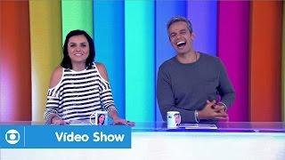 Vídeo Show: Monica Iozzi e Otaviano Costa comandam o programa, ao vivo