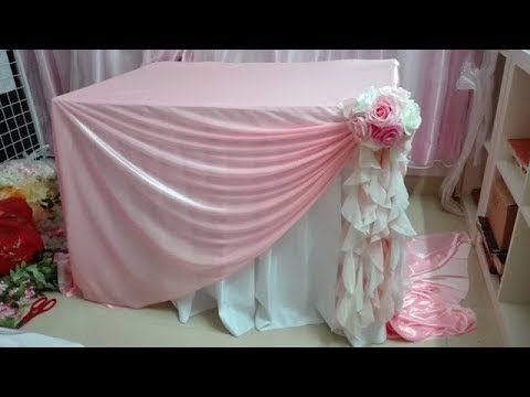 3 Other Diy Idea Of Decorating Wedding Table With Table Cloth And Flowers Youtube