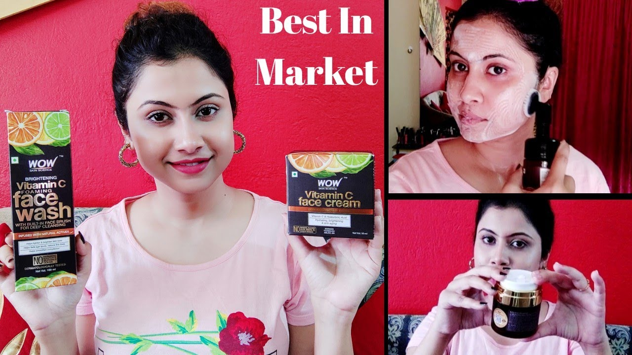 Wow Vitamin C Face Wash And Face Cream Honest Review || Must Have For Summer