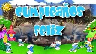Smurfs Singing Happy Birthday Los Pitufos Cantan Cumpleaños Feliz Canción Cumpleaños Feliz Youtube