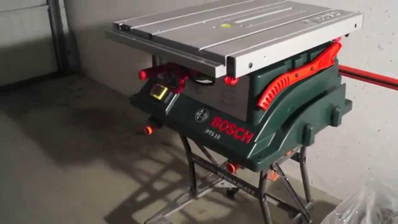 bosch pts10 tischkreissäge homeseries mit 1.400 watt unboxing! - youtube