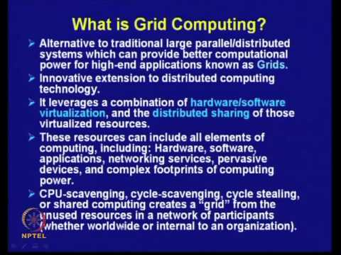 Mod-29 Lec-41 Cluster, Grid and Cloud Computing