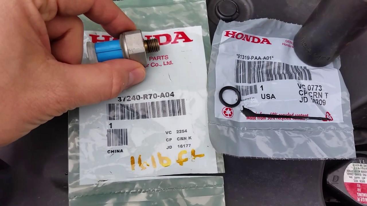 Honda pilot p3400 p3497 valve pause system stuck off - YouTube