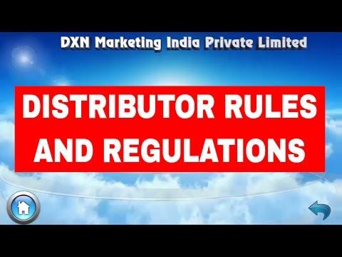 DXN INDIA DISTRIBUTOR RULES AND REGULATIONS (ENGLISH)