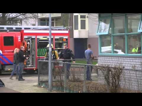 12-01-2012 Korte brand in Rudolf Steiner school Engelandlaan Haarlem